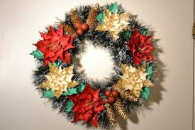 Christmas Paper Flower Wreath Handmade Christmas Wreaths Christmas Decoration Diy Christmas