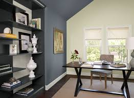 office color. Blue Home Office Ideas - Boldly Accented Paint Color Schemes T
