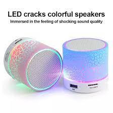 Loa Bluetooth Crack Di Động Loa Đèn LED Nhiều Màu Sắc Cho Phòng Ngủ Ngoài  Trời
