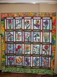 Stained Glass Quilt Pattern Inspiration Floral Stained Glass