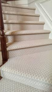 basement carpeting ideas. Choosing Stair Runner : Nice Design With Cream Patterned Carpet Combine Mahogany Basement Carpeting Ideas I