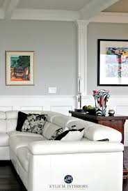 Wainscoting For Living Room Benjamin Moore Stonington Gray In A Contemporary Living Room With