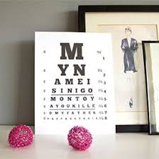 Download And Print This Eye Chart With A Princess Bride