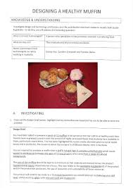 Food Design And Technology Design Project Muffins Below The Australian Curriculum