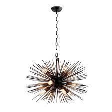 y decor 12 light black sputnik chandelier