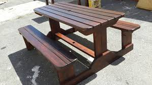 picnic bench walk in bench outdoor furniture imbuia