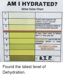 Hydration Color Chart Am I Hydrated Urine Color Chart If Your Urine Matches The