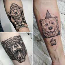 Bear Tattoo Design And Meanings Strength Courage And Confidence