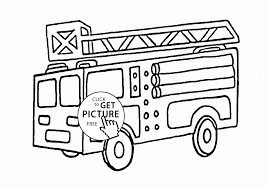 Small Picture Funny Fire Truck coloring page for kids transportation coloring
