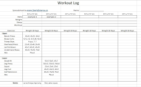 free workout log 11 free sample workout log templates printable samples
