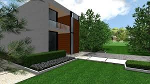 Contemporary Modern Front Yard modern-landscape
