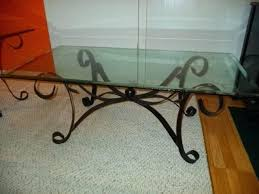 small glass end table coffee table glass metal coffee table wrought iron coffee beveled glass end