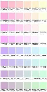 Pastel Color Code Chart Pastel Hex Codes Pastel Colors Color Schemes Colour Pallete