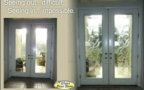 replacement front door glass replace the clear glass inserts in tall double doors with decorative glass