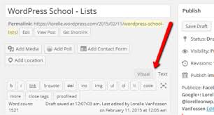 Make A List Com Wordpress School Lists Lorelle On Wordpress