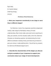 child psychology paper assignment ryan kelly dr sandra j hellyer  3 pages child psychology paper