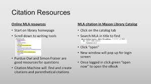 Citation Cards Hints Templates Citation Resources Online Mla