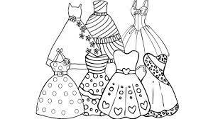 50+ bức tranh tô màu váy công chúa đẹp nhất cho bé gái