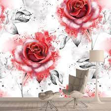 Red Rose Photo Wallpaper 3D Creative ...