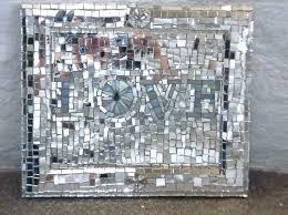 wall arts broken glass wall art mirror mosaic hand made home recycled cut bro