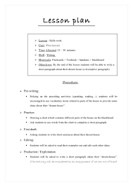 Resume Lesson Plan Pelosleclaire Com