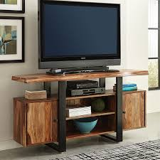 scott living knox natural black live edge tv cabinet