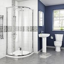 shower cubicles. IBathUK 800 X Mm Designer Quadrant Sliding Door Shower Enclosure + Tray \u0026 Free Waste Cubicles
