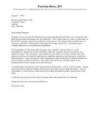 Nursing Position Cover Letter Best Intensive Care Unit Registered
