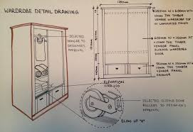 sliding wardrobe doors detail. Interesting Doors The Detail Drawing Consists Of A 3D View Front Elevation And Also  Blowup Detailing How The Sliding Doors Work I Know It Is Pretty Interesting  With Sliding Wardrobe Doors Detail L
