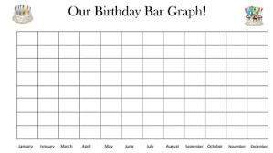 Blank Bar Graph Blank Birthday Bar Graph By Dee Laurens Creations Tpt