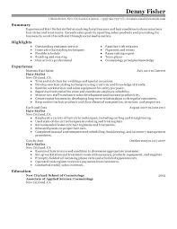 Sample Hairdresser Cover Letter Hair Stylist Personal Care And