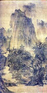 chinese ancient painter li cheng s buddhist temple in mountain these mountains have been