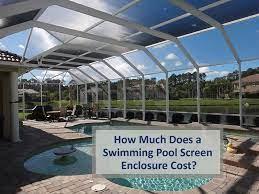 swimming pool screen enclosure cost
