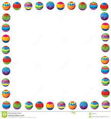cartoon border ilration for the children brochure blank