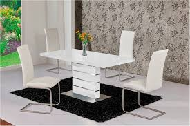 magnificent mace high gloss extending 120 160 dining table chair set white grey and white dining