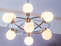 xl mid century 70s sputnik atomic chrome 12 light chandelier white glass globes