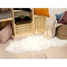 jean faux fur x in runner area rug white pierre accent rugs