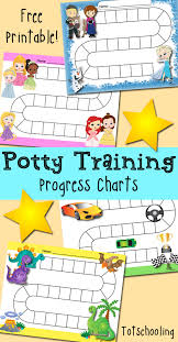 Free Potty Training Reward Chart And Stickers Free Potty Training Progress Reward Charts Totschooling