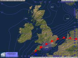 Uk Weather Surface Pressure Barometric Isobar Charts