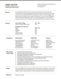 C V Sample For First Job Good Cv Examples 0 Professional Moreover