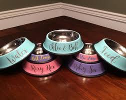 Pet Bowls Personalized // Dog Bowls // Cat Bowls // Personalized Dog Bowls