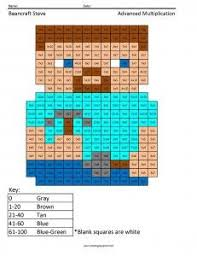 Small Picture Minecraft multiplication and division coloring pages Practice