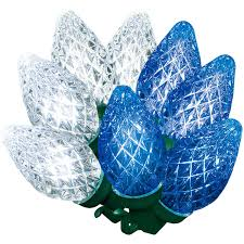 C7 Blue White Led Christmas Lights Holiday Time Diamond Cut C7 Led Color Changing Christmas