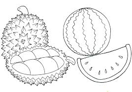 printable watermelon coloring pages for heart colouring wat