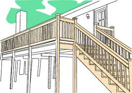 Decking handrails