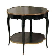 accent table black napoleon iii style black painted accent table with gilt accents round black marble