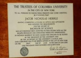 helps son support history of glasses 1 2 dr jack herrle s diploma from the optometry school at columbia university in new york signed by dwight d eisenhower eisenhower was president of