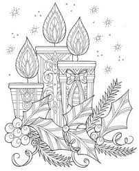 Santa images on this christmas 2020. Enchanting Candles And Night Sky Christmas Coloring Page Favecrafts Com
