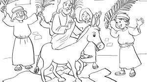 Free Palm Sunday Coloring Pages Stylish Best For Kids In Addition To