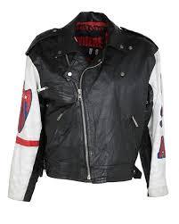 leather michael hoban usa biker jacket l
